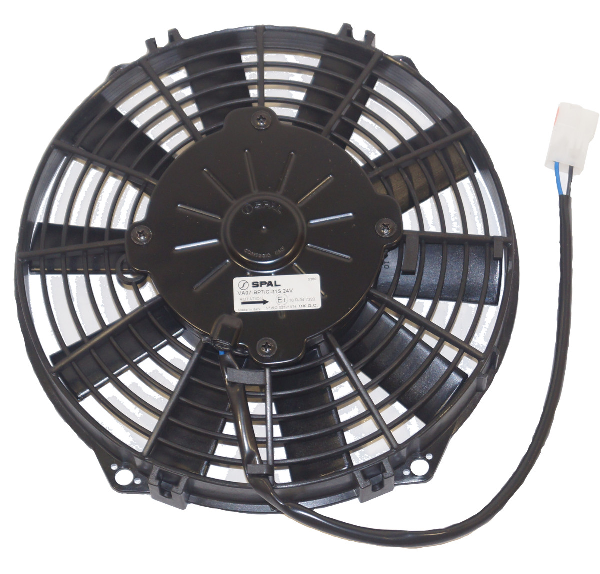 Axial fan 24V Ø255mm Blowing SPAL #8001673 | Lokab Systems